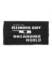 JUST AN ILLINOIS GUY IN AN OKLAHOMA WORLD Cloth face mask thumbnail