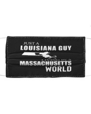 JUST A LOUISIANA GUY IN A MASSACHUSETTS WORLD Cloth face mask thumbnail