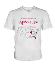 FLORIDA ILLINOIS THE LOVE MOTHER AND SON V-Neck T-Shirt thumbnail