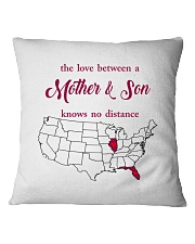 FLORIDA ILLINOIS THE LOVE MOTHER AND SON Square Pillowcase thumbnail