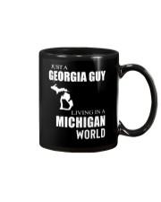 JUST A GEORGIA GUY IN A MICHIGAN WORLD Mug thumbnail