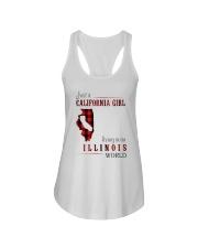 JUST A CALIFORNIA GIRL IN AN ILLINOIS WORLD Ladies Flowy Tank thumbnail