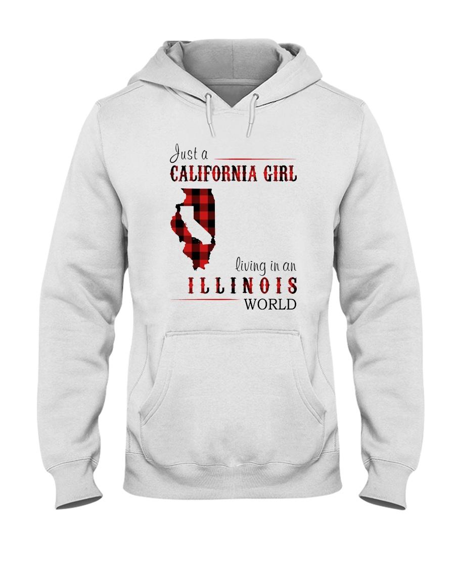 JUST A CALIFORNIA GIRL IN AN ILLINOIS WORLD Hooded Sweatshirt