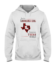 JUST A LOUISIANA GIRL IN A TEXAS WORLD Hooded Sweatshirt front