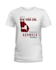 JUST A NEW YORK GIRL IN A GEORGIA WORLD Ladies T-Shirt thumbnail
