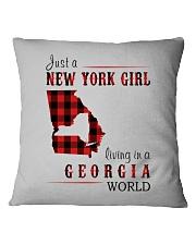 JUST A NEW YORK GIRL IN A GEORGIA WORLD Square Pillowcase thumbnail