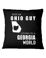 JUST AN OHIO GUY IN A GEORGIA WORLD Square Pillowcase tile