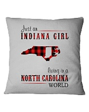 JUST AN INDIANA GIRL IN A NORTH CAROLINA WORLD Square Pillowcase tile
