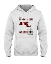JUST A GEORGIA GIRL IN A MASSACHUSETTS WORLD Hooded Sweatshirt front
