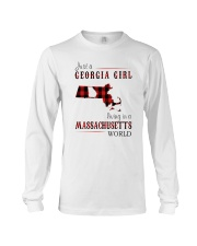 JUST A GEORGIA GIRL IN A MASSACHUSETTS WORLD Long Sleeve Tee tile