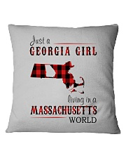 JUST A GEORGIA GIRL IN A MASSACHUSETTS WORLD Square Pillowcase thumbnail