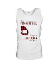 JUST A COLORADO GIRL IN A GEORGIA WORLD Unisex Tank thumbnail