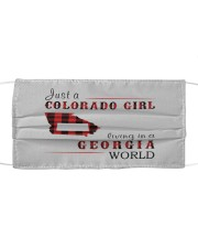 JUST A COLORADO GIRL IN A GEORGIA WORLD Cloth face mask thumbnail