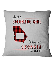 JUST A COLORADO GIRL IN A GEORGIA WORLD Square Pillowcase thumbnail