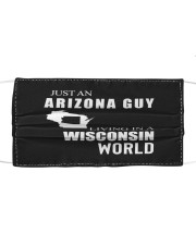 JUST AN ARIZONA GUY IN A WISCONSIN WORLD Cloth face mask thumbnail