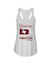 JUST A TEXAS GIRL IN A PENNSYLVANIA WORLD Ladies Flowy Tank thumbnail
