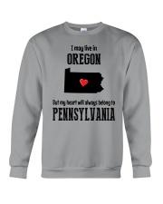 LIVE IN OREGON BUT BELONG TO PENNSYLVANIA Crewneck Sweatshirt thumbnail
