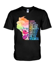 EACH ROAD LEADS ME TO WISCONSIN V-Neck T-Shirt thumbnail