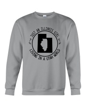 ILLINOIS GIRL LIVING IN UTAH WORLD Crewneck Sweatshirt thumbnail