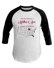 FLORIDA WISCONSIN THE LOVE MOTHER AND SON Baseball Tee tile