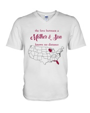 FLORIDA WISCONSIN THE LOVE MOTHER AND SON V-Neck T-Shirt thumbnail