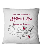 FLORIDA WISCONSIN THE LOVE MOTHER AND SON Square Pillowcase tile