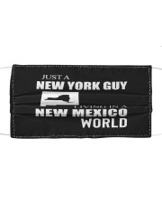 JUST A NEW YORK GUY IN A NEW MEXICO WORLD Cloth face mask thumbnail
