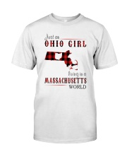 JUST AN OHIO GIRL IN A MASSACHUSETTS WORLD Classic T-Shirt thumbnail