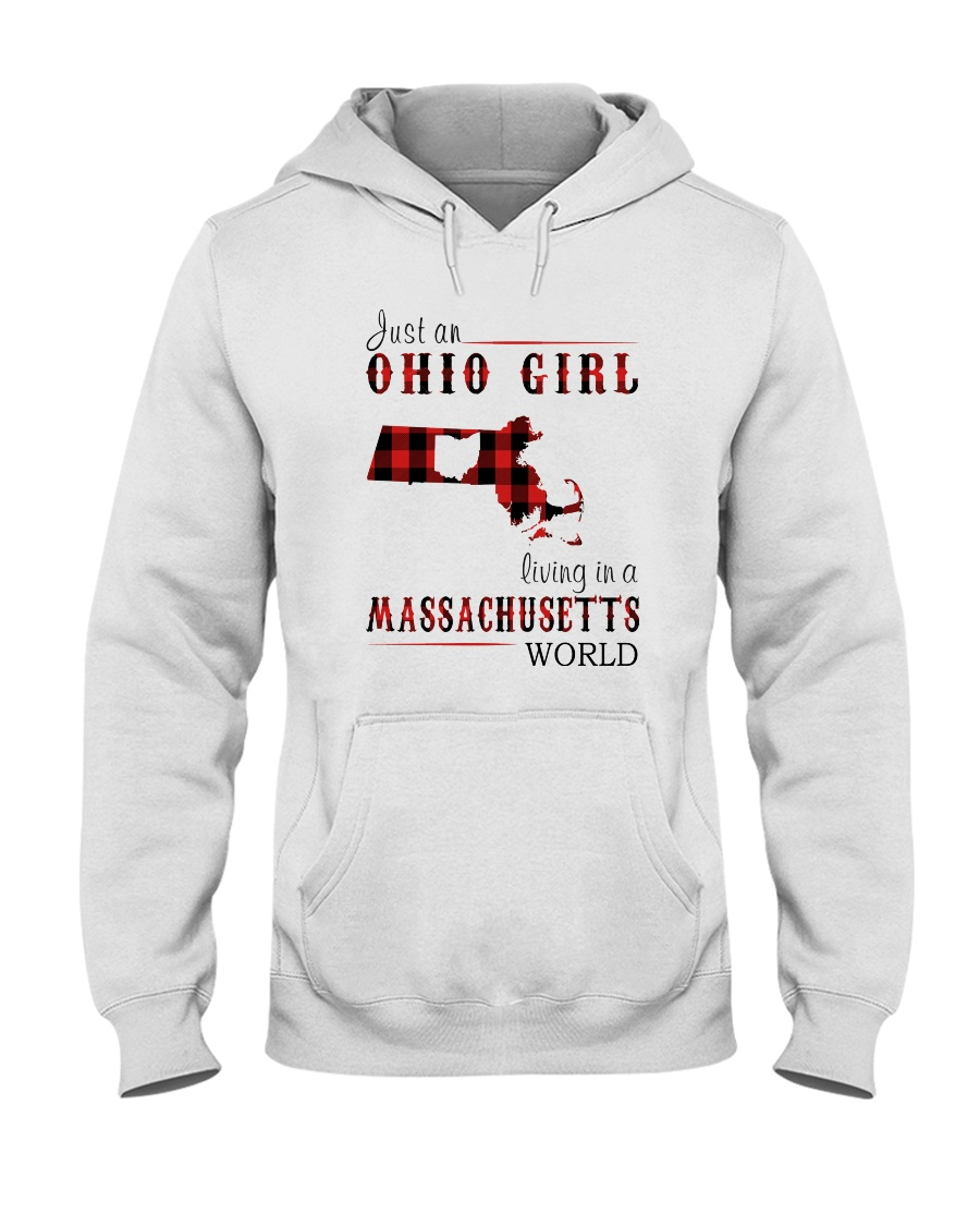 JUST AN OHIO GIRL IN A MASSACHUSETTS WORLD Hooded Sweatshirt
