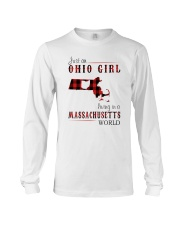 JUST AN OHIO GIRL IN A MASSACHUSETTS WORLD Long Sleeve Tee thumbnail