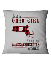 JUST AN OHIO GIRL IN A MASSACHUSETTS WORLD Square Pillowcase thumbnail