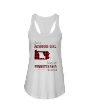 JUST A MISSOURI GIRL IN A PENNSYLVANIA WORLD Ladies Flowy Tank thumbnail