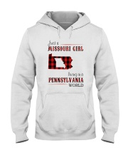 JUST A MISSOURI GIRL IN A PENNSYLVANIA WORLD Hooded Sweatshirt front