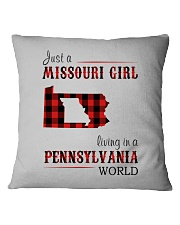 JUST A MISSOURI GIRL IN A PENNSYLVANIA WORLD Square Pillowcase tile