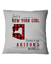 JUST A NEW YORK GIRL IN AN ARIZONA WORLD Square Pillowcase thumbnail