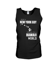 JUST A NEW YORK GUY IN A HAWAII WORLD Unisex Tank thumbnail