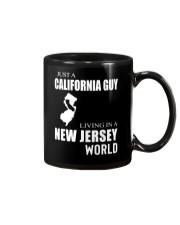 JUST A CALIFORNIA GUY IN A NEW JERSEY WORLD Mug thumbnail