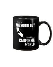 JUST A MISSOURI GUY IN A CALIFORNIA WORLD Mug thumbnail