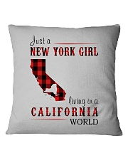 JUST A NEW YORK GIRL IN A CALIFORNIA WORLD Square Pillowcase thumbnail