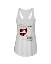 JUST A VIRGINIA GIRL IN AN OHIO WORLD Ladies Flowy Tank thumbnail
