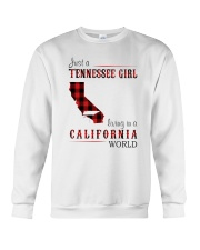 JUST A TENNESSEE GIRL IN A CALIFORNIA WORLD Crewneck Sweatshirt thumbnail