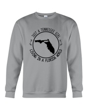 TENNESSEE GIRL LIVING IN FLORIDA WORLD Crewneck Sweatshirt tile