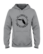 TENNESSEE GIRL LIVING IN FLORIDA WORLD Hooded Sweatshirt tile