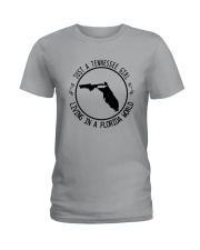 TENNESSEE GIRL LIVING IN FLORIDA WORLD Ladies T-Shirt thumbnail