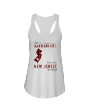 JUST A MARYLAND GIRL IN A NEW JERSEY WORLD Ladies Flowy Tank thumbnail
