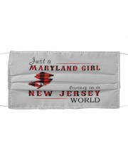 JUST A MARYLAND GIRL IN A NEW JERSEY WORLD Cloth face mask thumbnail