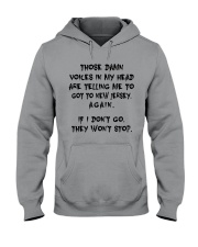 VOICES IN MY HEAD ARE TELLING TO GOT TO NEW JERSEY Hooded Sweatshirt thumbnail