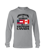 I MAY LIVE IN GEORGIA MY STORY BEGAN IN CANADA Long Sleeve Tee tile