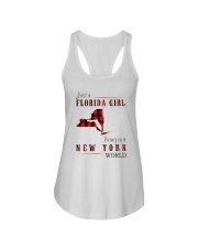 JUST A FLORIDA GIRL IN A NEW YORK WORLD Ladies Flowy Tank thumbnail