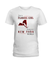 JUST A FLORIDA GIRL IN A NEW YORK WORLD Ladies T-Shirt thumbnail